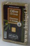 Görög olíva szappan fahéjjal és narancs illattal - Bio esti