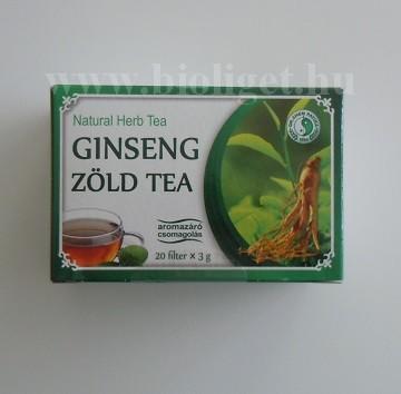 Dr. Chen ginseng zöld tea filteres