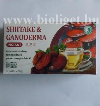 instant shiitake és ganoderma gomba tea