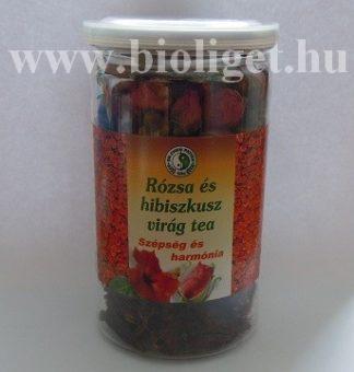 rózsa és hibiszkusz virág tea