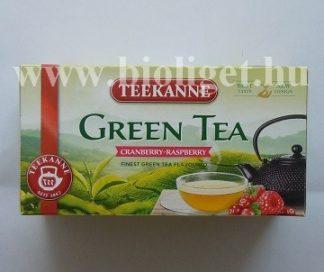 zöld tea áfonyával és málnával