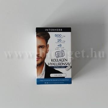 Interherb kollagén hyaluronsav férfiak számára