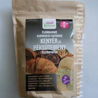 szafi csökkentett szénhidrát tartalmú kenyér liszt