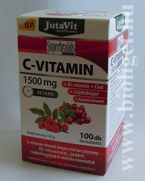 C-vitamin 1500mg 100db