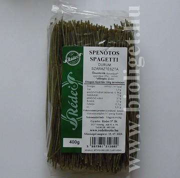 durum spenótos spagetti