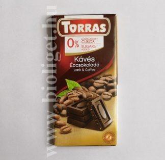 Torras kávés étcsokoládé