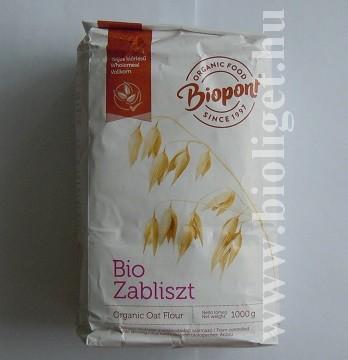 biopont bio teljes kiőrlésű zabliszt