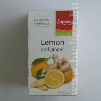 gyömbér tea citrommal