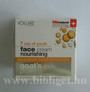 kecsketejes bőrtápláló arckrém 7 olajjal