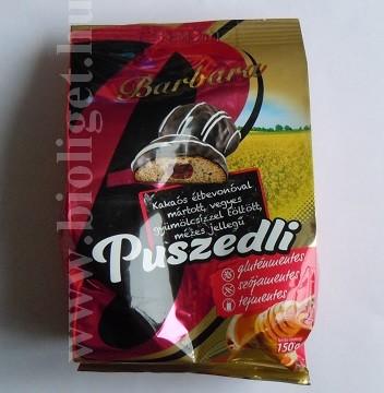 Barbara csokimázas gyümölcsízzel töltött mézes puszedli