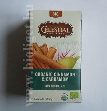 Celestial bio fahéj kardamom tea