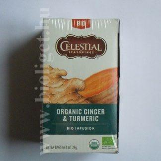 Celestial bio gyömbér fahéj kurkuma tea