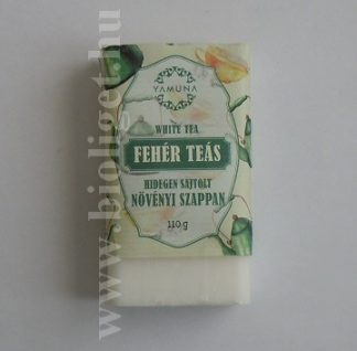 fehér teás szappan