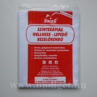 fehér színterápiás wellness lepedő