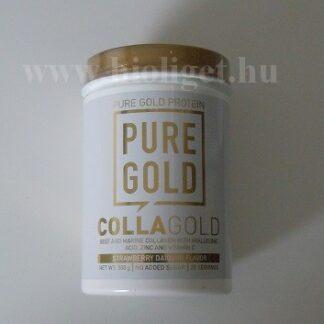 Pure Gold CollaGold marha és halkollagén por eper ízű